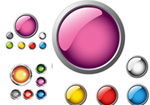 Bright Crystal button vector