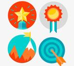 Practical circular icons vector