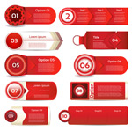 Simple label stickers vector