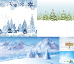 Snow in winter construction vector