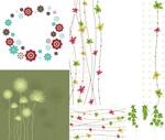 Flower vine decoration vector