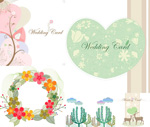 Hearts and pattern border vector