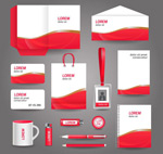 Red-and-white minimalist VI templates vector