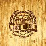 Beer stamp wood grain background vector