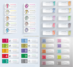 Colorful number width vector