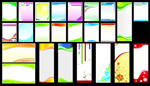 Panel template background vector
