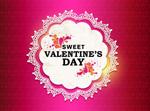 Sweet Valentine decorated vector