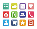 Web page classification icons vector