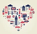 London tourist element vector