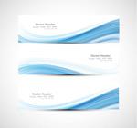 Blue line banner vector