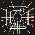 Chengdu subway route map vector