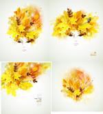 Creative Golden Autumn leaves vector