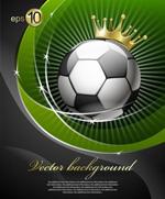Crown football vector