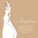 Exquisite wedding dress wedding vector