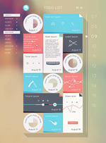 Flat mobile phone interface vector