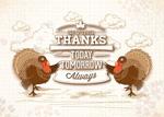 Thanksgiving Turkey poster vector