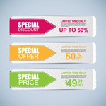 Color promotional banner vector