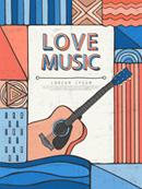 Concert brochure cover vector