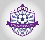 Football badge labels vector