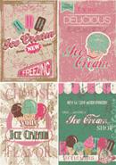 Vintage ice cream poster vector