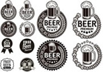 Black and white beer label vector