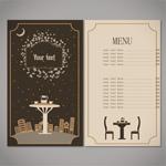 Cafe tea menu vector