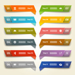 Delicate origami labels vector