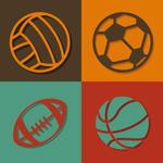 Exquisite ball icon vector