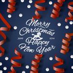 Ribbons Christmas poster vector