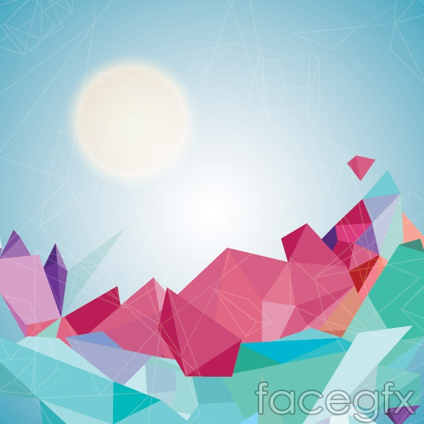 Geometric lines background vector Free download