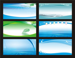 The blue banner background vector