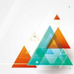Fantasy triangular background vector