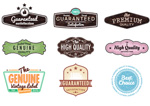 Retro recommended tags vector