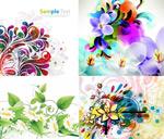 Colours flowers vector