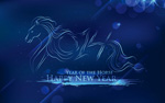 The horse new year backgrounds vector