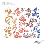Traditional Butterfly designs vector