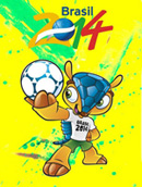 World Cup mascot posters vector
