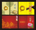 Chinese style recipes cover vector