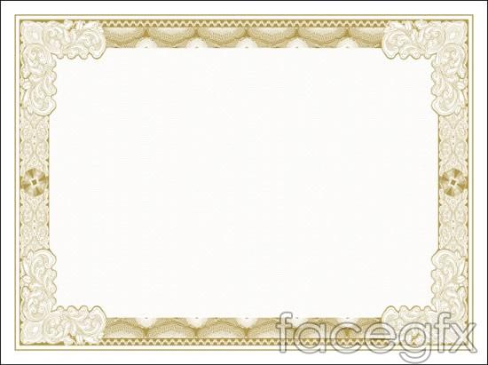 Pattern certificate border vector – Free Download Certificate Borders