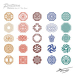Exquisite carved patterns vector