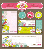 Hand-painted cards background pattern vector