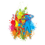Colorful dance figures vector