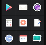 Graphic style icon vector