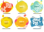 Bubbles colorful language vector