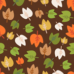 Cartoon-colored leaves background vector
