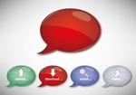 A dialogue bubble button vector