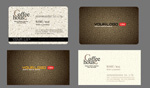 Cafe premium business cards vector