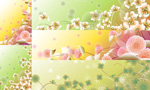 Flowers and floral designs vector
