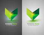 V-shaped logo vector