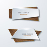 Folding wooden banner vector